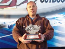 Greig Sniffen moved up two notches from day two and finished third in the co-angler division.