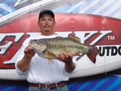 Sticking with a dropshot rig and working it slowly paid off for Ramon Fonseca, who caught a 10-pound, 9-ounce bass - the biggest co-angler fish of day three.