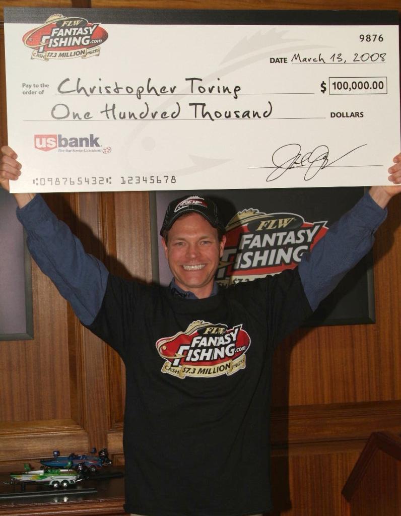 Image for FLW Fantasy Fishing hooks first $100,000 winner at Lake Toho