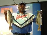 Larry Carter is third in the Co-angler Division after catching 8-14 on day one.