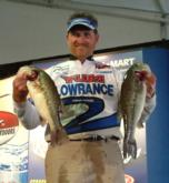 Pro Mike Todd caught 13-10 on day one of the FLW Tour event on Smith Lake.
