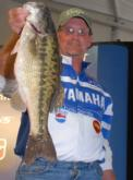 Mark Hardin of Jasper, Ga., in seventh place with 13-1. He also tied for the day-one big bass in the Pro Division weighing 4-7.