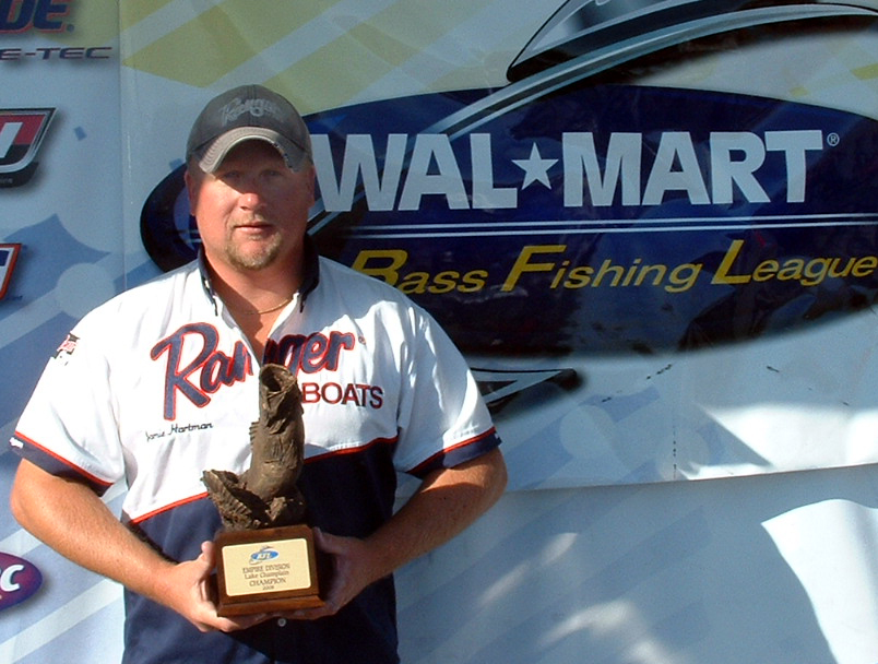 Image for Hartman best Walmart BFL boater on Lake Champlain