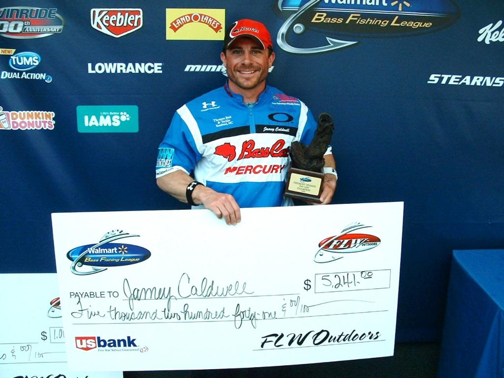 Image for Caldwell wins Walmart BFL event on Kerr Lake
