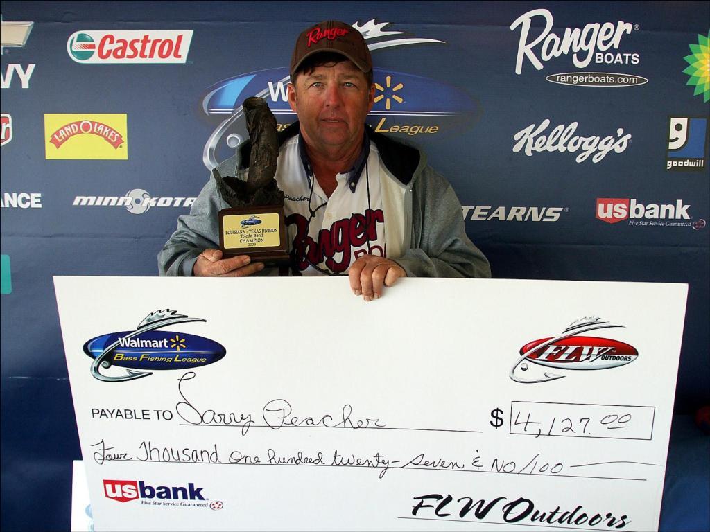 Image for Peacher picks up BFL win on Toledo Bend Lake