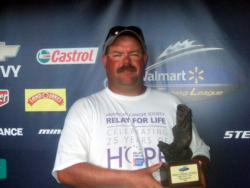 Richard Bradford of Hoffman, N.C., earned $2,214 as the co-angler of the June 27 BFL North Carolina Division event.