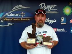 Kenny Mitchell of Franklin, Ohio, earned $1,713 as the co-angler winner of the July 11 BFL Buckeye Division event.