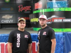 The Henderson State team of Zach Richards and Ryan Scott, both from Nashville, Ark., finished the FLW College Fishing event at the Detroit River in third place.
