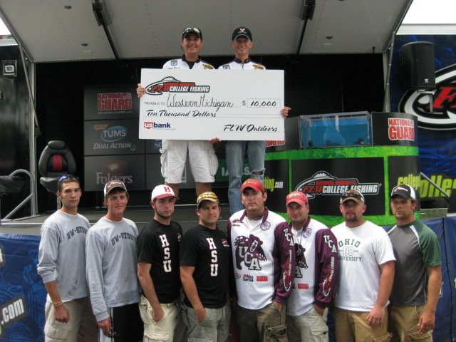 Image for Western Michigan wins National Guard FLW College Fishing event on Detroit River