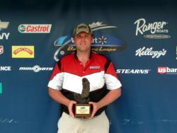 Charlie Smith of Florence, Ky., earned $1,644 as the co-angler winner of the Aug. 8 BFL Buckeye Division event.