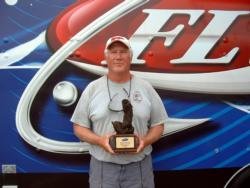 Jamie Bladow of Houston, Ala., earned $2,852 as the co-angler winner of the Sept. 12-13 BFL Bama Division event.