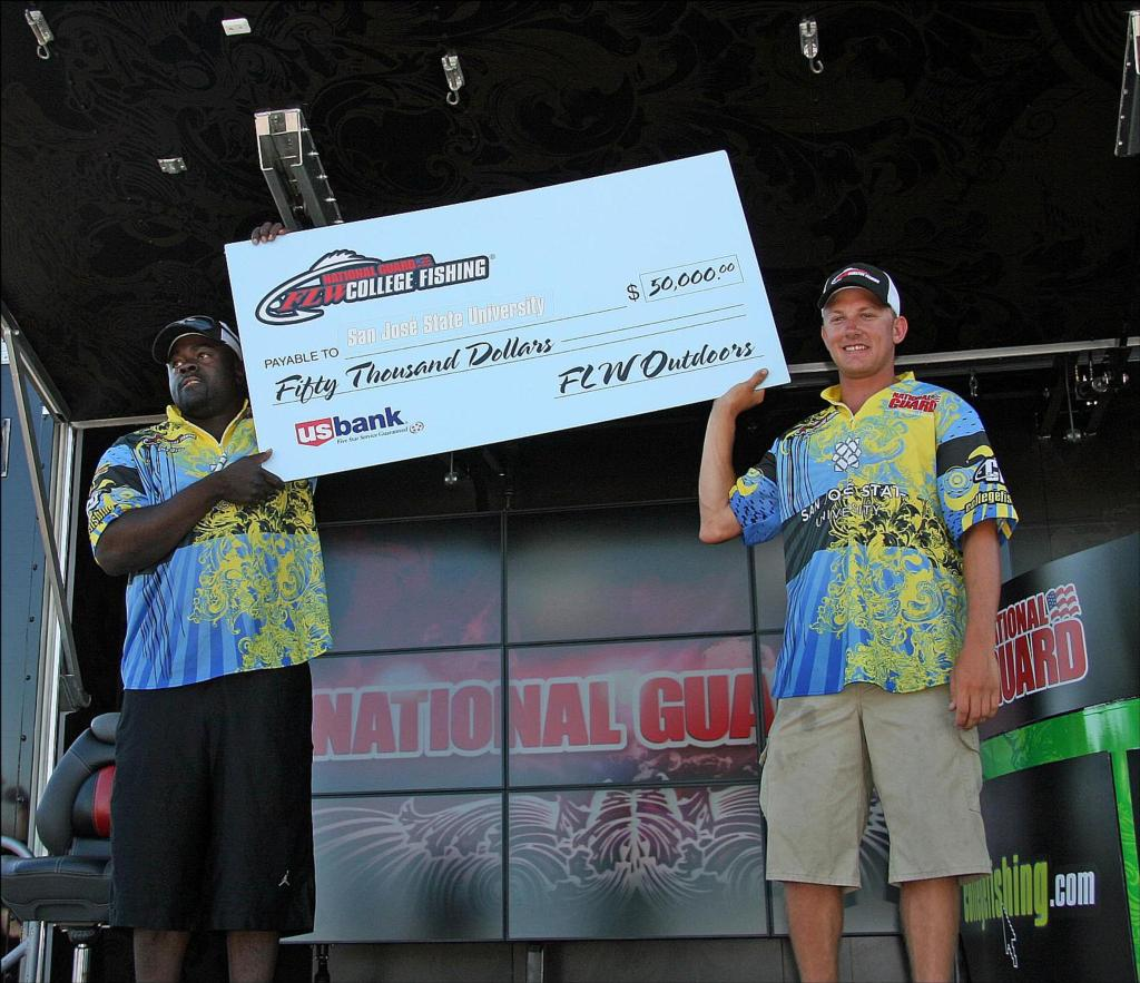 Image for San Jose State University wins National Guard FLW College Fishing Western Regional on Cal Delta