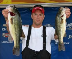 Topping the co-angler division, Justin Moore caught his fish on shaky head worms and Rat-L-traps.