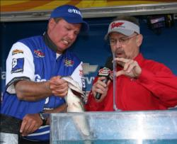 Rick Brame caught just one fish on day three, but it was big enough to keep him in second place.