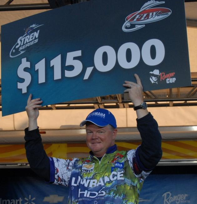 Pickwick domination: Mark Rose of Marion, Ark., wins yet another tournament on Pickwick Lake in wire-to-wire fashion with his Stren Series Championship victory.