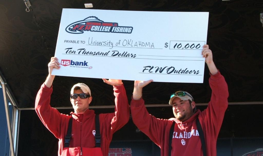 Image for University of Oklahoma wins National Guard FLW College Fishing event on Falcon Lake