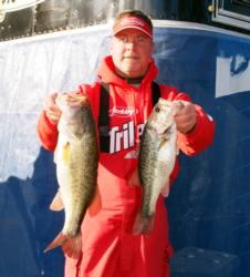 Co-angler Keith Honeycutt climbed to second on day two.