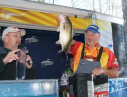 Co-angler Bo Standley was runner-up at the AFS Texas event on Sam Rayburn.