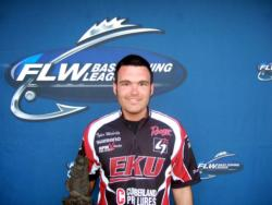 Co-angler Tyler Moberly of Berea, Ky., earned $2,415 as winner of the March 20 BFL Mountain Division event.