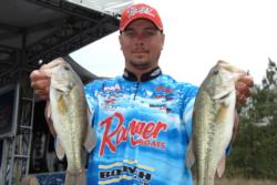 Day-one leader Jason Christie fell to fourth place overall with a total catch of 26 pounds.
