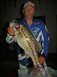 Finishing a close second, JR Wright caught the only co-angler limit of day three.