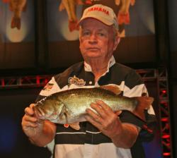 Marvin Hawkes caught just one fish and finished 15th, but his 4-pound, 6-ounce bass demonstrated the quality swimming in Lake Lanier.