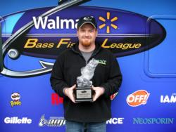 Co-angler Nathan Hall of Malvern, Ark., earned $1,921 as winner of the Feb. 26 BFL Arkie event.