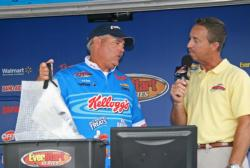Texas pro Jim Tutt shares the details of his day one leading catch.