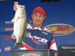 Despite missing much of the cover he would have fished in higher water, Jeremy Guidry found enough fish for fourth place.