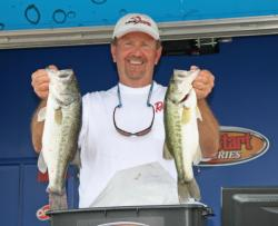 A day of quality bites put Kenny Moser atop the co-angler division.