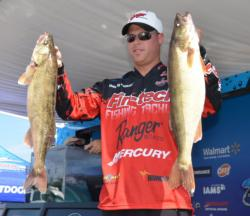 Danny Plautz caught a 27-pound, 12-ounce stringer Friday and finished the opening round in third place.