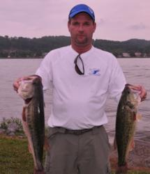 James Bobbitt of Rainbow City, Ala., leads the Co-angler Division with 21-6.
