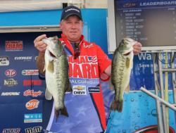 Second-place boater Marc Snyder started off strong with a 5-pound bass shortly after takeoff.