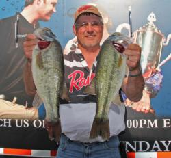 Hitting multiple spots and junk fishing was the formula for third-place boater Dick Shaffer.