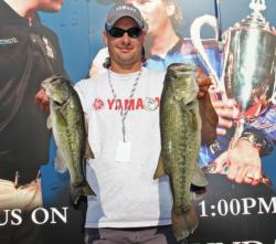 South Carolina boater Conrad Bolt followed postspawn fish that he located during pre-practice.