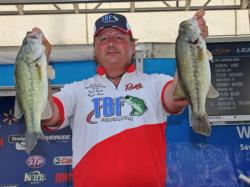 Downsizing his baits and slowing his presentations was important for second-place co-angler Robert Hime.