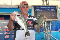 Hitting an array of habitat and throwing several baits lifted Dick Shaffer to second place.