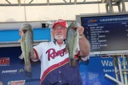 Flipping docks was the plan for fifth-place boater Dicky Newberry.
