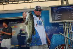 Sixth-place co-angler Wesley Taylor caught a chunky bass on day two.