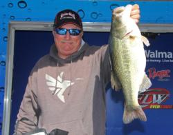 Denny Brauer caught his fish by pitching his signature Strike King Premier Pro Model jig.
