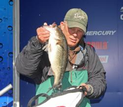 A chatterbait did the trick for second-place co-angler David Kayda.