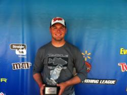 Co-angler Brandon Patterson of Manhattan, Kan., won the April 6 Ozark Division event on Lake of the Ozarks with five-bass limit that weighed 18 pounds, 2 ounces. Patterson was awarded over $2,300 in tournament winnings for his victory.