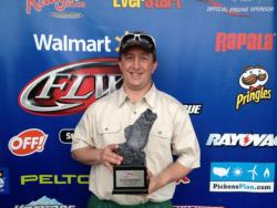 Co-angler David Leonard of Owasso, Okla., won the April 27 Okie Division event on Lake Eufaula with a limit weighing 20 pounds, 1 ounce. He walked away with more than $2,100 in prize money.