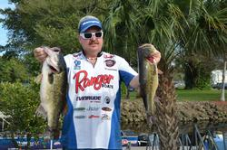 Ranger pro Ryan Chandler sits in third place with a weight of 26 pounds, 1 ounce.