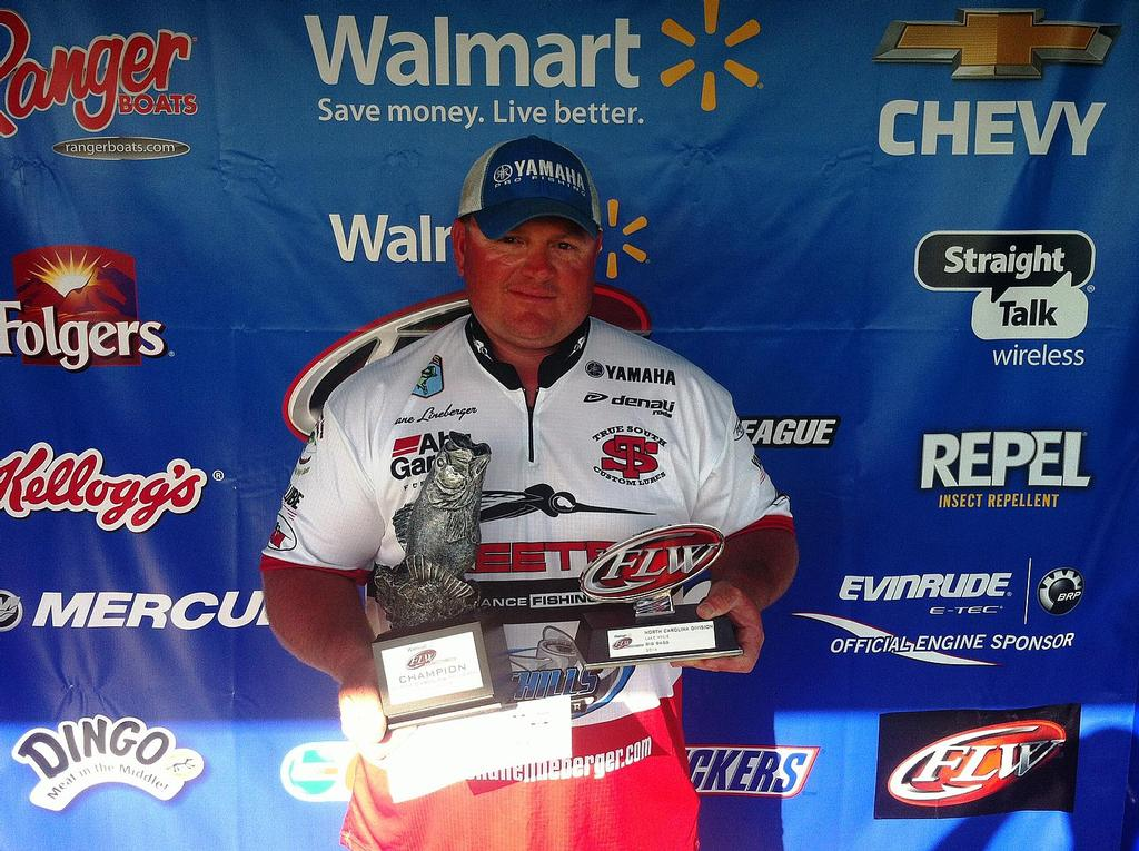 Image for Lineberger lifts trophy on Lake Wylie