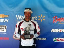 Co-angler Kevin Henderson of Honea Path, S.C., won the April 26 South Carolina Division event on Clarks Hill with 13 pounds, 7 ounces to take a check worth over $1,400.