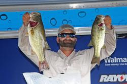 Another big day kept  Michael Crocker on top of the co-angler division.