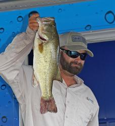 Michael Crocker took Big Bass honors in the co-angler division with his 5-5.