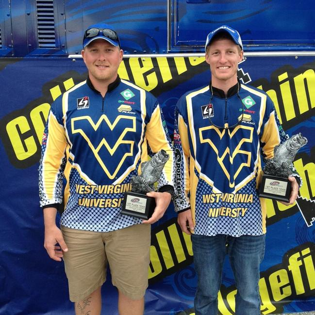 Mathew Gibson and Edward Rude III of West Virginia University landed 10 bass for 34 pounds, 2 ounces, to earn their second Northern Conference Invitational win.