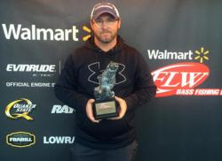 Co-angler Chris Coleman of Laurens, S.C., won the Feb. 7 Savannah River Division event on Lake Keowee with a 12-pound, 2-ounce limit to walk away with over $2,500 in prize money.